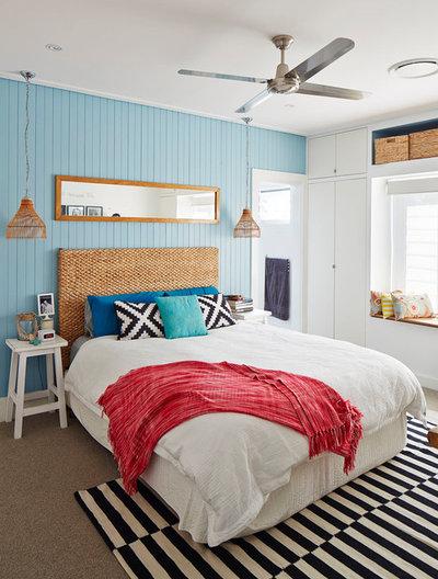 Beach Style Bedroom by I Spy Designs