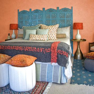 Interiors Modern Indian Master Bedroom: San Mateo, CA