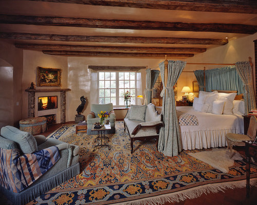 Fashion Inspired Guest Room: Santa Fe Style Bedroom Design Ideas, Remodels & Photos
