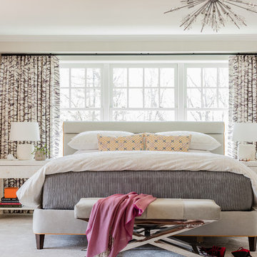 Into the Woods - Sherborn, MA | Bold Serene Bedroom