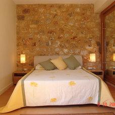Mediterranean Bedroom by iris panagiotopoulou