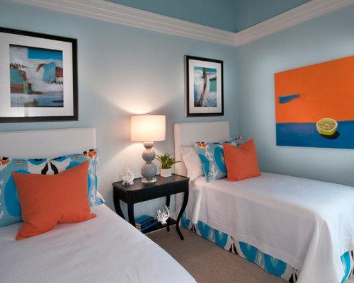 Blue orange bedroom houzz for Houzz kids room