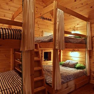 Aménagement d'une chambre d'amis montagne.