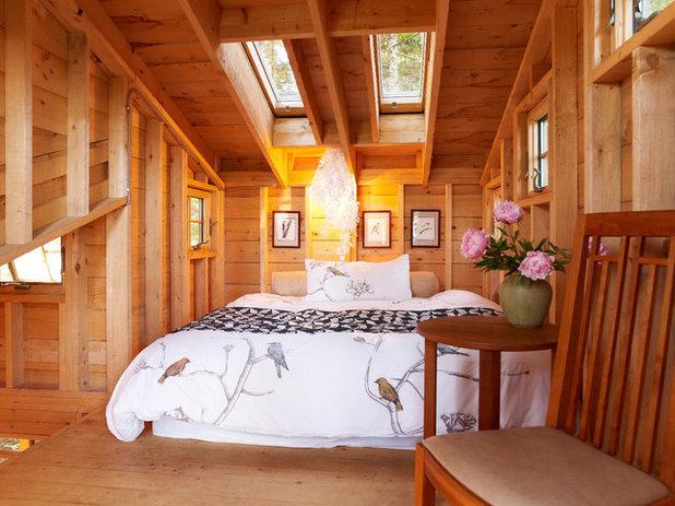 Rustic Bedroom by David Matero Architecture