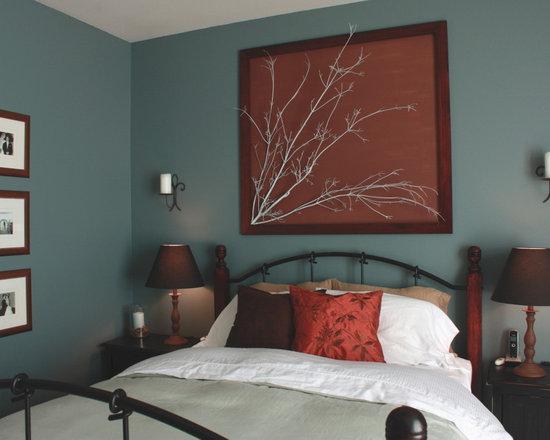 gray maroon bedroom design ideas, remodels & photos | houzz