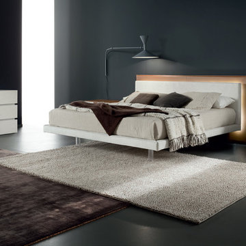 Italian Platform Bed Libriamo Brown by Rossetto - $2,375.00