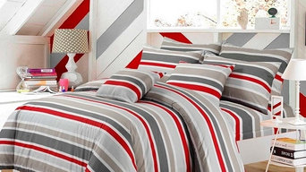 IVOR STRIPE COTTON EASY CARE DUVET COVER SET
