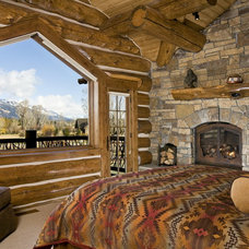 Rustic Bedroom by B&B Builders