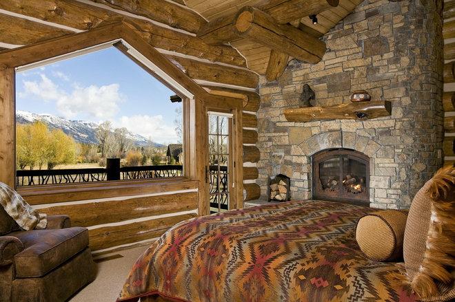 Rustic Bedroom by B&B Builders