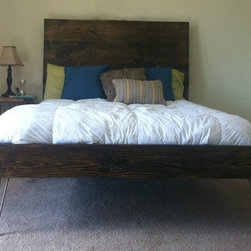 James+James Steel Leg bed with Panel Headboard. Queen-sized. - James+James Steel Leg bed with Panel Headboard. Queen-sized.
