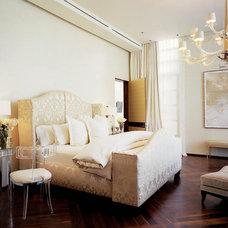 Contemporary Bedroom by Jamie Herzlinger