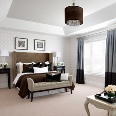 contemporary bedroom by Jane Lockhart Interior Design