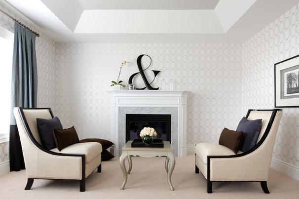 Transitional Bedroom by Jane Lockhart Interior Design