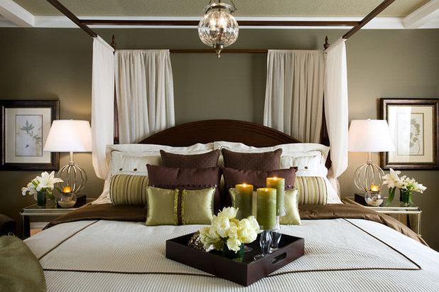 American Traditional Bedroom by Jane Lockhart Interior Design