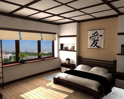 Attractive Example Of A Zen Bedroom Design In Other Part 11
