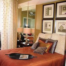 Eclectic Bedroom by SUSAN PETRIL, INTERIOR DESIGNS