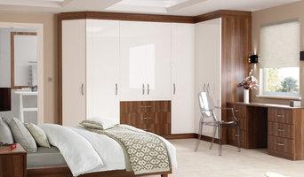 Jasmine High Gloss Walnut and White Bedroom
