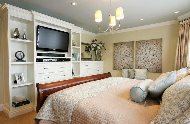 Cool Contemporary Bedroom by Jennifer Brouwer Jennifer Brouwer Design Inc