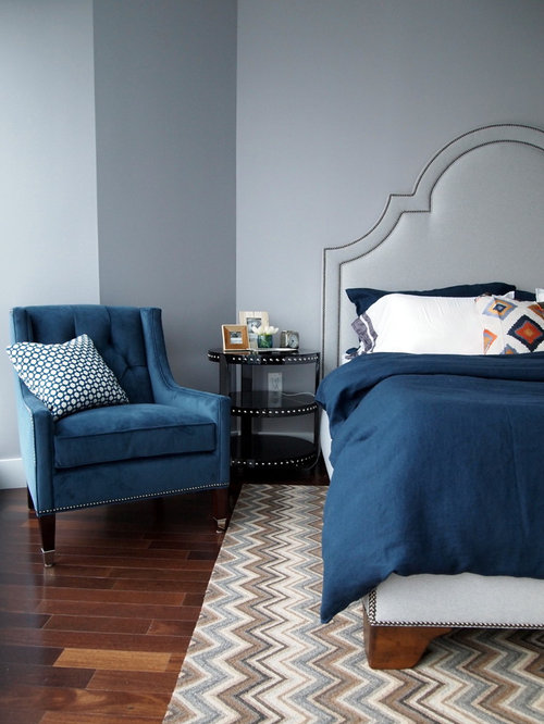 Blue And Gray Bedroom Home Design Ideas, Pictures, Remodel