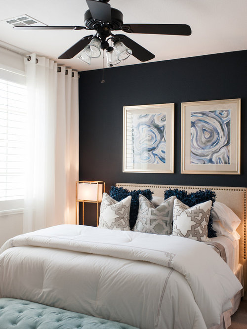 Small bedroom design ideas remodels photos houzz for Room design 4x3