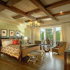 mediterranean bedroom by John Lively & Associates