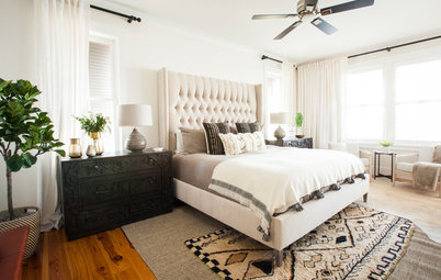 Subtle Patterns Pull Together a Master Bedroom