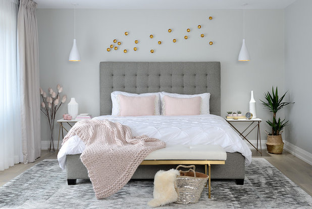 Fusion Bedroom by Decor by Christine Interior Decorating & Design