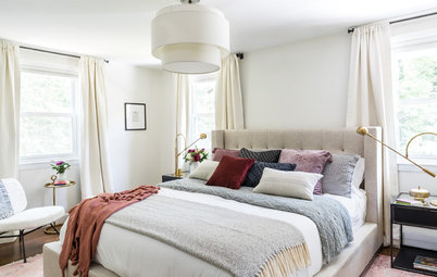 Serene Master Suite Awash in Warm Whites