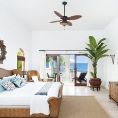 tropical bedroom by Judi Randall, Classic Home Interiors, 949-340-2645