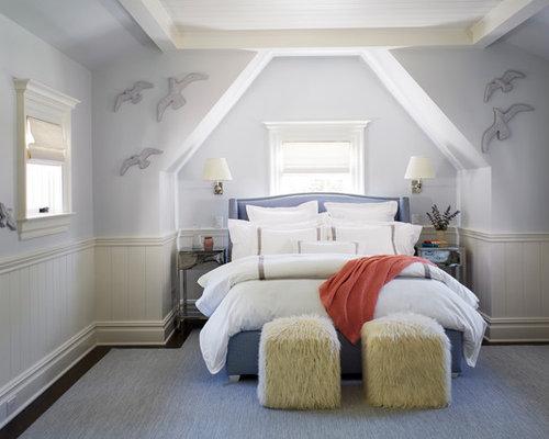 Camera da letto al mare con pareti viola foto e idee per - Pareti camera da letto viola ...
