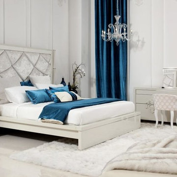 Juliet - Temptation Modern Platform Bed with Tall Headboard