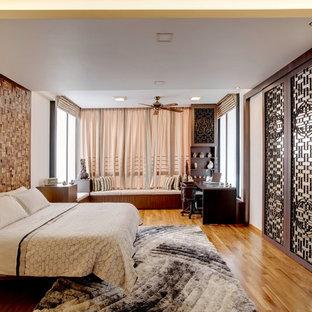 Imagen de dormitorio principal de estilo zen