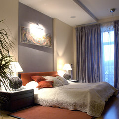 eclectic bedroom by Zimina Inna