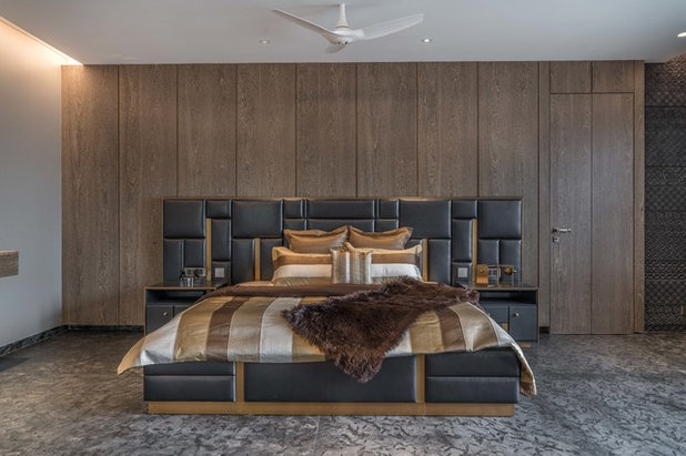 Contemporary Bedroom by Think Designz