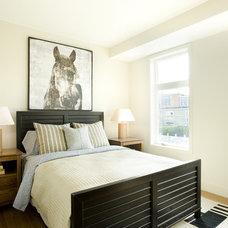 Contemporary Bedroom by Karen Joy Interiors