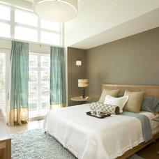 Transitional Bedroom by Karen Joy Interiors