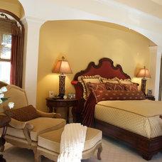 Mediterranean Bedroom by KARLA TRINCANELLO-CID - INTERIOR DECISIONS, INC.