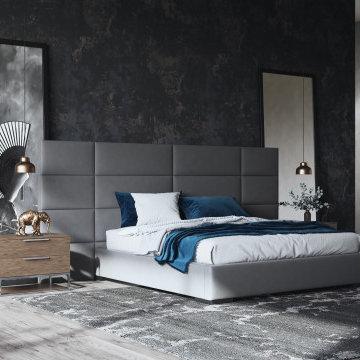 Kasos Bed & Maligne Dresser & Nightstand