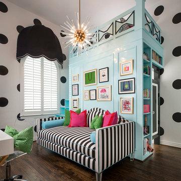 Kate Spade-Inspired Tween Bedroom