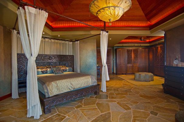 Tropical Bedroom by Eklektik Interiors