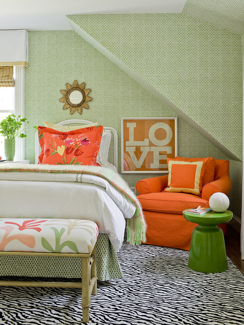 Green And Orange Home Design Ideas Pictures Remodel And