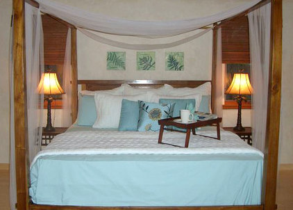 Tropical Bedroom by Design Savvy Maui, ASID