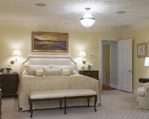 carpet for bedroom. Inspiration for a timeless carpeted bedroom remodel in Newark with beige  walls Master Bedroom Carpet Houzz