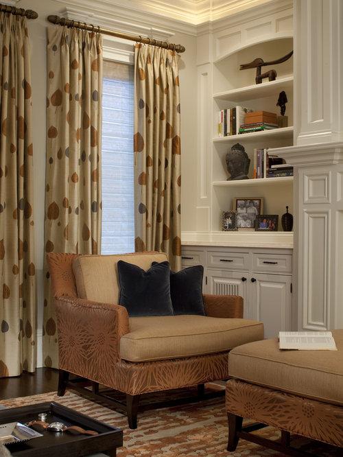 bedroom idea in chicago with beige walls