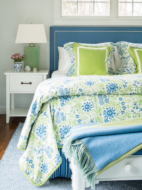 green and blue bedroom houzz
