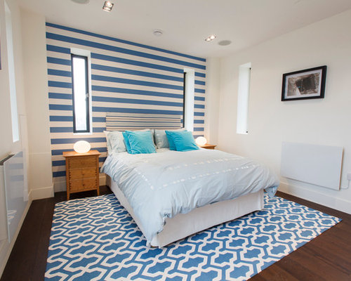 funky electric blue bedroom design ideas renovations photos