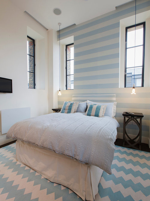 White And Blue Bedroom Home Design Ideas, Pictures
