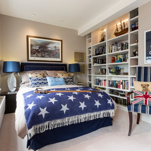 Blue And Taupe Bedroom | Houzz
