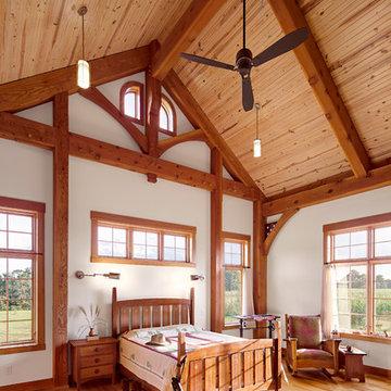 Kentucky Craftsman Timber Frame Home - Paducah Residence - Master Bedroom