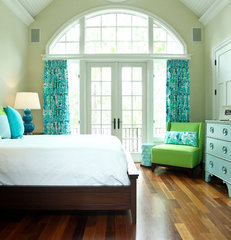 eclectic bedroom by Margaret Donaldson Interiors